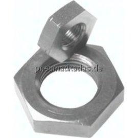 Sechskant-Gegenmutter Stahl verzinkt Mutter metrisches Gewinde